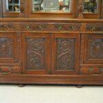 Antique-Renaissance-Revival-Walnut-Buffet-Carved-Details-Beveled-Glass-1890s-263359464358-2