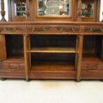 Antique-Renaissance-Revival-Walnut-Buffet-Carved-Details-Beveled-Glass-1890s-263359464358-3
