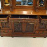 Antique-Renaissance-Revival-Walnut-Buffet-Carved-Details-Beveled-Glass-1890s-263359464358-4
