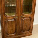 French-Regency-Style-Pecan-Double-Door-Bookcase-Cabinet-by-John-Widdicomb-262515857358-2