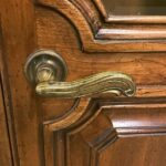 French-Regency-Style-Pecan-Double-Door-Bookcase-Cabinet-by-John-Widdicomb-262515857358-7