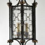 Gothic-Wrought-Iron-Brass-Lantern-Style-Chandelier-265150821098
