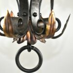 Gothic-Wrought-Iron-Brass-Lantern-Style-Chandelier-265150821098-3