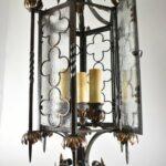 Gothic-Wrought-Iron-Brass-Lantern-Style-Chandelier-265150821098-4