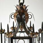 Gothic-Wrought-Iron-Brass-Lantern-Style-Chandelier-265150821098-6