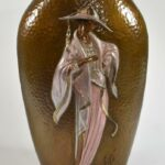 Hammered-Bronze-Double-Sided-Vase-by-Erte-Chapeau-1984-192167604078