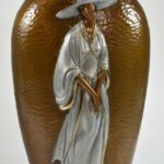 Hammered-Bronze-Double-Sided-Vase-by-Erte-Chapeau-1984-192167604078-2