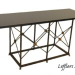 Iron-Base-With-68-Long-Black-Granite-Top-Console-Table-with-Paw-Feet-264656140888