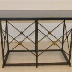 Iron-Base-With-68-Long-Black-Granite-Top-Console-Table-with-Paw-Feet-264656140888-2