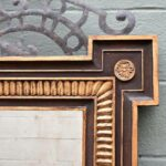 LARGE-SCALE-WOOD-CARVED-MIRROR-WITH-METAL-TOP-W-HOUNDS-DOGS-DETAIL-264656196638-3