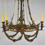 Large-Rococo-Bronze-with-Hand-Cut-Crystals-Chandelier-Light-Fixture-193367654388-2