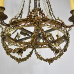 Large-Rococo-Bronze-with-Hand-Cut-Crystals-Chandelier-Light-Fixture-193367654388-3