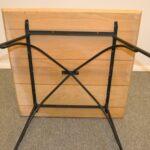 MID-CENTURY-MODERN-WOODARD-IRON-LEG-PLANK-SLAB-OAK-TOP-TABLE-264940791018-8