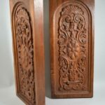 Pair-Carved-Walnut-Decorative-Wall-Hangings-Panels-194014546888-2