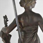 SIGNED-EUG-MARIOTON-FEMALE-FIGURAL-SPELTER-BRONZE-TONE-LAMP-LA-RECONNAISSANCE-265021301298-7