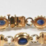 Sapphire-Ruby-14K-Yellow-Gold-Link-Bracelet-24-Grams-265073708238-3