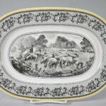 Villeroy-Boch-Black-White-Audun-Ferme-Farm-Scenery-Oval-Platter-13-12-x-9-194217413118