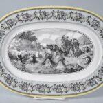 Villeroy-Boch-Black-White-Audun-Ferme-Farm-Scenery-Oval-Platter-16-x-11-265208926258