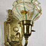 Vintage-Art-Glass-Shade-Heart-Vine-Brass-Fixture-Wall-Sconce-265132313568-2