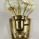 Vintage-Art-Glass-Shade-Heart-Vine-Brass-Fixture-Wall-Sconce-265132313568-3