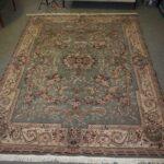 Vintage-Oriental-Area-Rug-9-x-12-Mint-Green-Room-Size-264821163848