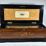 11-Cylinder-Music-Box-Ideal-Piccolo-Ten-Tune-Burl-Wood-Case-Inlay-Design-194219936009-2