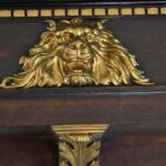 Antique-Empire-Style-Architectural-Fragment-Oak-Mantle-Top-Carved-Lions-Head-193698047859-4
