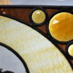 Antique-Stained-Slag-Glass-Jeweled-Beveled-Window-264165419219-5