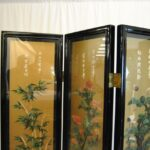 Asian-Four-Panel-Hand-Painted-Screen-in-Lacquer-with-Stonework-264913587789-4