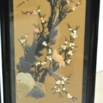 Asian-Four-Panel-Hand-Painted-Screen-in-Lacquer-with-Stonework-264913587789-7