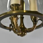 Brass-with-Etched-Glass-Cylinder-Chandelier-Light-Fixture-261455814649-2