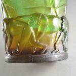 Daum-France-Pate-De-Verre-Crystal-Monkey-Vase-Signed-192913529209-3