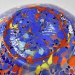 Kralik-Czech-Art-Glass-Vase-Pinched-Sides-Multi-Colored-Opalescent-Body-193726414589-3
