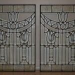 Pair-Antique-Beveled-Glass-Windows-29-x-44-Each-194208821479
