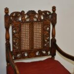 Pair-Antique-Carved-Edwardian-Arm-Chairs-Circa-1910-Caned-Back-Seat-194247748369-3