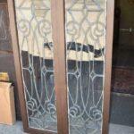 Pair-Antique-Framed-Beveled-Glass-Sidelight-Windows-193984799199-2