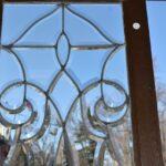 Pair-Antique-Framed-Beveled-Glass-Sidelight-Windows-193984799199-5