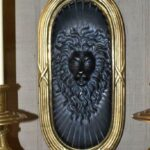Pair-Chapman-Neo-Classical-Brass-Wall-Sconces-Figural-Lion-Detail-Two-Arm-194219884699-2