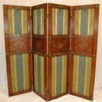 Regency-Style-Burl-Wood-Four-Panel-Screen-by-Mario-Buatta-for-Widdicomb-192178600259