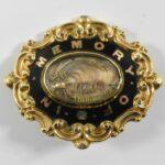 Victorian-9K-Gold-Morning-Pin-Brooch-Enamel-Work-Circa-1882-264986334459