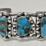 Vintage-Sterling-Silver-Turquoise-Cuff-Bracelet-417-Grams-265077664639-2