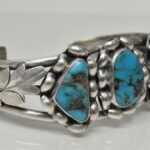 Vintage-Sterling-Silver-Turquoise-Cuff-Bracelet-417-Grams-265077664639-3