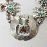 Vintage-Sterling-Turquoise-Coral-Necklace-1735-Grams-265106451529